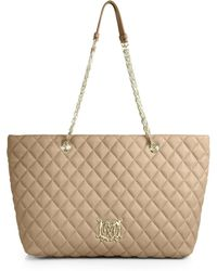 Love Moschino Quilted Tote - Lyst