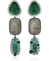 Shawn Ames - Ophelia Multi-Stone Drop Earrings - Lyst