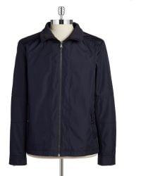 Calvin Klein Blue Water-Repellent Jacket - Lyst