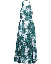 Mara Hoffman Rayon Cut Out Tie Back Maxi Dress - Lyst