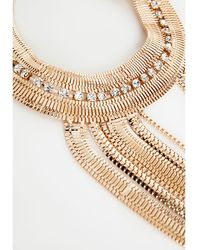 Missguided Seraphina Layered Chain Statement Necklace Gold - Lyst