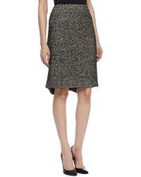 Zac Posen Tweed Pencil Skirt - Lyst