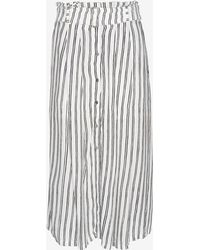 A.L.C. Mcdermott Striped Silk Print Skirt - Lyst