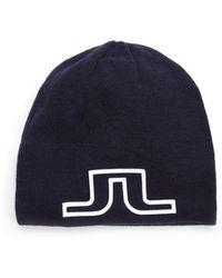 J.Lindeberg - Logo Wool Blend Hat - Lyst
