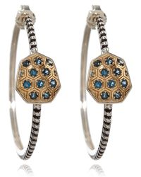 Stephen Dweck - Small Gold And Silver Galactical Hoop Earrings - Lyst
