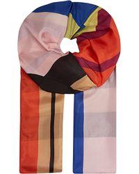 Dries Van Noten Block Silk Scarf - For Women - Lyst