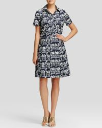 Tory Burch Printed Shirt Dress - Lyst