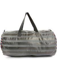 Marc By Marc Jacobs Duffle Large Grey Striped Shoulder Bag - Lyst
