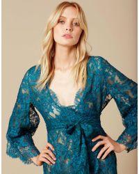 Agent Provocateur - Mirrabella Short Kimono Green - Lyst