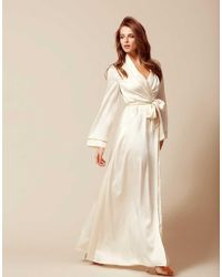 Agent Provocateur - Classic Long Dressing Gown Ivory - Lyst