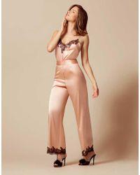 Agent Provocateur - Amelea Camisole Pink/black - Lyst