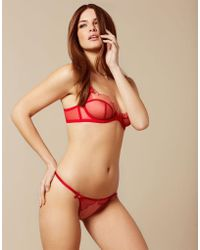 4175acd381 Agent Provocateur - Lorna Thong Red And Pink - Lyst