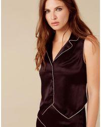 Agent Provocateur - Selene Panther Waistcoat Black - Lyst