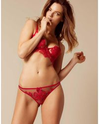 Agent Provocateur - Seraphina Thong Red - Lyst