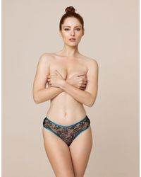 Agent Provocateur - Mariyah Shortie Black And Teal - Lyst