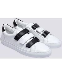 agnès b. - White Leather Tenko Sneakers - Lyst