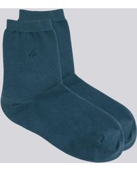 "agnès b. - Blue Ana Socks Embroidered With A ""b"" - Lyst"