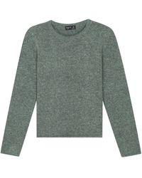 agnès b. - Green Mohair Knit Pulp Pullover - Lyst