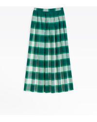 agnès b. - Green Checked Long Skirt - Lyst