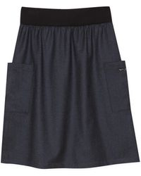 agnès b. - Blue Cotton And Wool Matis Skirt - Lyst