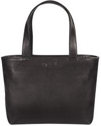 agnès b. - Black Small Leather Shopping Bag - Lyst