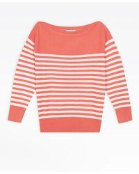 agnès b. - Pink Sailor Striped Jumper - Lyst