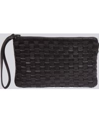 agnès b. - Black Plaited Leather Straps Romane Wallet - Lyst