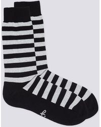 agnès b. - White Striped Socks - Lyst