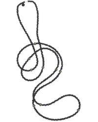 agnès b. - Black Glass Beads Zelie Necklace - Lyst