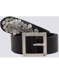 agnès b. - Black Leather Azza Belt - Lyst