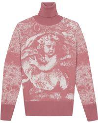 agnès b. - Jacquard Wool Ange Pullover - Lyst
