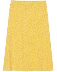 agnès b. - Yellow Printed Amande Skirt - Lyst