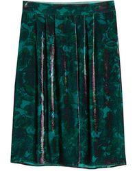 agnès b. - Velvet Cerise Skirt - Lyst