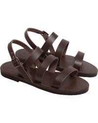agnès b. - Brown Gladiator Sandals - Lyst