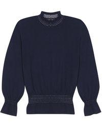 agnès b. - Blue 3/4 Sleeves Tania Pullover - Lyst