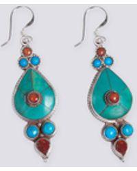 agnès b. - Silver And Semi-precious Stones Daya Earrings - Lyst
