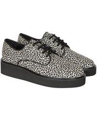 agnès b. - Leopard Leather Nicky Derby - Lyst
