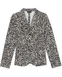 agnès b. - Leopard Print Walmer Jacket - Lyst