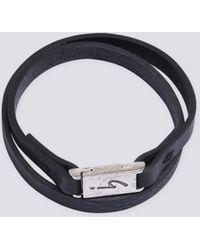 agnès b. - Black Leather Irony Bracelet - Lyst