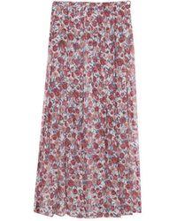 agnès b. - Flower Print Silk Didy Skirt - Lyst