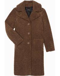 agnès b. - Brown Faux Fur Berthe Coat - Lyst