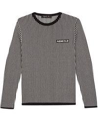 agnès b. - Black Striped Jacquard Jumper - Lyst