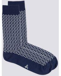 agnès b. - Blue Polka Dot Kaito Socks - Lyst