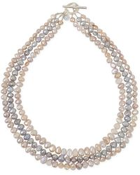 agnès b. - White Freshwater Pearls Juliette Necklace - Lyst