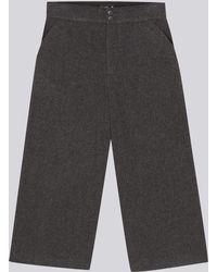 agnès b. - Grey Tyra Culotte Skirt - Lyst