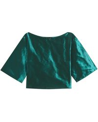 agnès b. - Green Nerea Top With Kimono Sleeves - Lyst