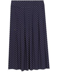 agnès b. - Blue Small Flowers Print Grand Hotel Skirt - Lyst