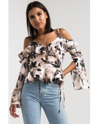 Akira | Say It Out Loud Cold Shoulder Top | Lyst