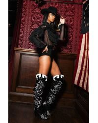 Cape Robbin - Rockstar Western Over The Knee Boots - Lyst