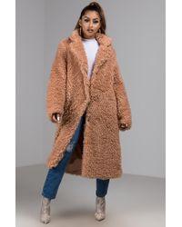 AKIRA - SHAGGY Lady Long Coat - Lyst